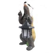 Фигура декоративная Барсук с фонарем L16W18H42см
