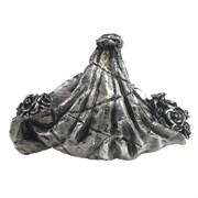 Подставка под бутылку Салфетка с цветами (серебро) L26W16H16 см