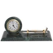 Набор настольный на мраморной подставке: часы, ручка, подставка для визиток, L28W10H2 см