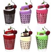 """Полотенце """"Мороженое"""", набор из 2-х шт в стакане, L25 W25 см, L30 W30 см"""