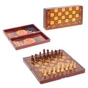 Игра настольная 3 в 1  (шахматы, шашки, нарды), L39,5 W20 H6 см