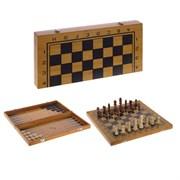 Игра настольная 3 в 1 (шахматы, шашки, нарды), L39 W19,5 H4,5 см 231292