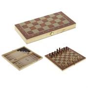 Игра настольная 3 в 1 (шахматы, шашки, нарды), L29,5 W14,5 H3,5 см