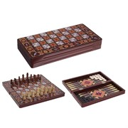Игра настольная 3 в 1  (шахматы, шашки, нарды), L39 W19,5 H5 см