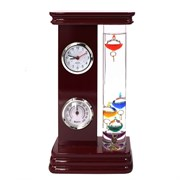 Метеостанция (часы, термометр, гигрометр, термометр Галилея), L13 W6 H24 см