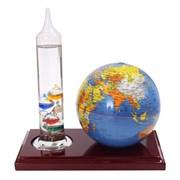 Термометр Галилея с глобусом, L17 W10 H18 см