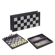 Игра настольная магнитная 2 в1 (шахматы, шашки), L25,5 W12,5 H4 см
