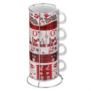 Чашка, набор из 4-х шт на подставке, 200 мл 724894