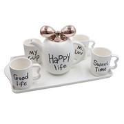 Чайный набор на 4 персоны на подносе, 6 предметов 724873