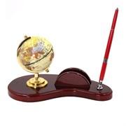 Настольный набор (глобус, ручка, держатель для визиток), L26 W14 H18 см