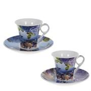 Кофейный набор на 6 персон, 12 предм. (чашка 150 мл с блюдцем),  L9,5 W8 H7 см