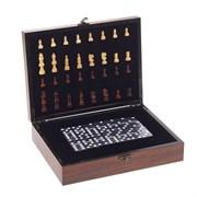 Игра настольная 2 в 1 (шахматы/домино), L26 W19,5 H7 см