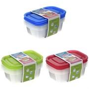 Контейнер для пищевых продуктов, набор из 3-х шт, L18 W12 H5,5 см