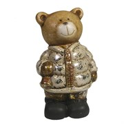 Фигура декоративная Медведь с колокольчиком (золото)L8W6.5H12