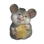 Фигурка декоративная Мышонок Жора (серый) L6,5 W6 H9 см