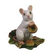 Фигурка декоративная Мышка Джуди (белый) L6 W4 H6,5 см