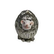 Фигурка декоративная Белый Джим в орешке (серебро) L5 W4 H4 см