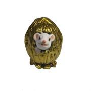 Фигурка декоративная Белый Джим в орешке (золото) L5 W4 H4 см