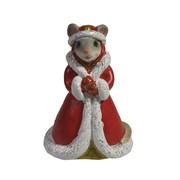 Фигурка декоративная Мышка Елизавета (серый) L4 W4 H6 см