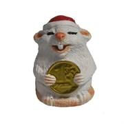 Фигура декоративная Крыса с рублем (белый) L4W4H5