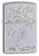 Зажигалка Зиппо (Zippo) Money Tree Design с покрытием Satin Chrome 29999