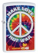 Зажигалка Зиппо (Zippo) Woodstock® с покрытием White Matte 49013