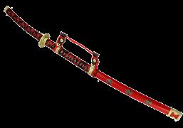 Меч самурайский тачи красный