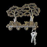 Ключница металлическая Деревья