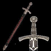 Меч средневековый, в ножнах DE-6201