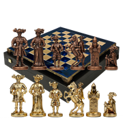 Шахматы бронзовые Рыцари Средневековья MP-S-12-C-44-BLU