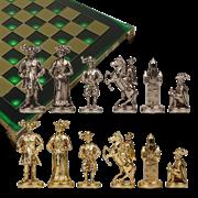 Шахматы бронзовые Рыцари Средневековья MP-S-12-44-GRE