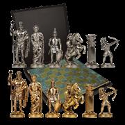 Шахматы с фигурами из бронзы Античные войны MP-S-15-28-TIR