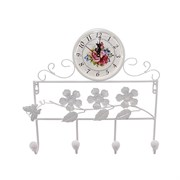 Часы настенные декоративные с крючками, L33 W5,5 H33см
