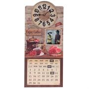Часы настенные декоративные с календарем, L26,5 W4,5 H60см