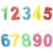 """Свеча """"Цифра"""", набор из 10-ти штук, L8,5 W2 H13 cм"""