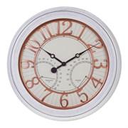 Часы с термометром и гигрометром настенные декоративные , L 50,8 W 5,8 H 50,8см
