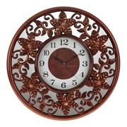 Часы настенные декоративные ( с зеркальным элементом), L50 W5 H50см