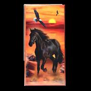 Нарды в деревянной коробке Конь на закате