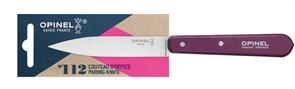 Нож столовый Опинель (Opinel) №112, деревянная рукоять, блистер, нержавеющая сталь, сливовый 001914