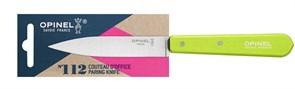 Нож столовый Опинель (Opinel) №112, деревянная рукоять, блистер, нержавеющая сталь, зеленый 001915
