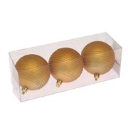 """Украшение новогоднее Шар"""" Спираль золотистая"""", набор из 3 шт, D7 см"""