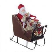 Дед Мороз на санях L50 W20 H53 см