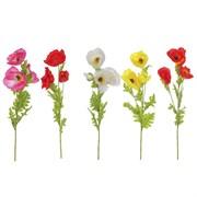 """Цветок искусственный """"Мак"""" L15 W15 H106 см"""