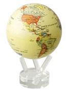 Глобус самовращающийся Mova Globe d12 см с  политической картой Мира, цвет бежевый