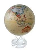 Глобус самовращающийся Mova Globe d22 см с политической картой Мира, цвет бежевый