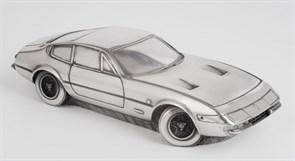 """Скульптура-автомобиль """"Jaguar E Type"""", металл, 23 см"""