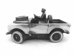 "Скульптура-автомобиль ""Land Rover Country Gent"", металл, 20 см"