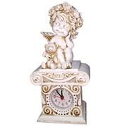 Часы настольные Ангелочек с медведем цвет: антик Н24 см