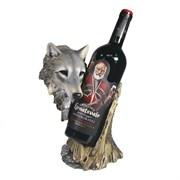 Подставка под бутылку Волк цвет: акрил L14W17H26 см