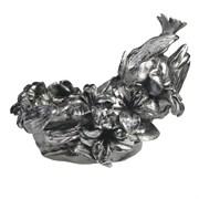 Подставка под бутылку Лилии цвет: серебро L28W20H20 см